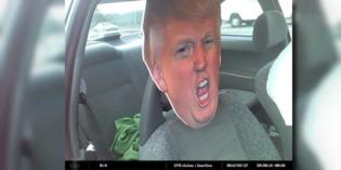 In Other News: A Guy Was Busted Using a Trump Cutout in the Carpool Lane