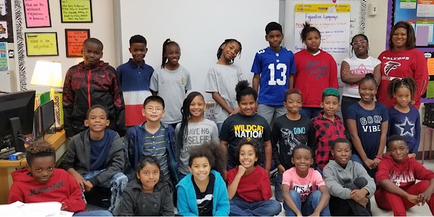 S.L. Mason Class Wins Malcolm Mitchell's National Reading Bowl Championship