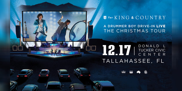 For King And Country Christmas Tour December 1, 2020 For King & Country bringing drive in Christmas tour to Tallahassee