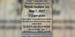 Teriyaki Sandwich Sale @ Greater Valdosta United Way